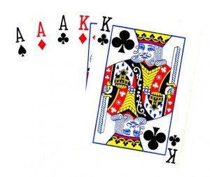 Full House trip Aces and pair Kings